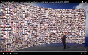 Virtuell kör med över 1000 deltagare. Skärmdump: Youtube